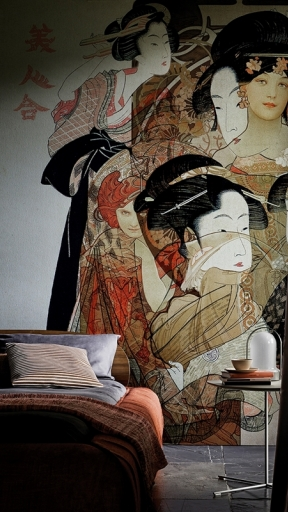 Noveau Geisha by Wall and Deco