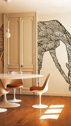 WILD GIRAFFE by Wall and Deco
