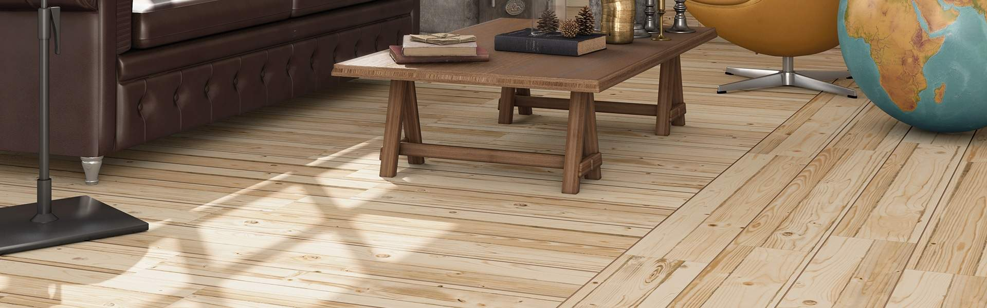 Pine Style Wood Effect Tiles