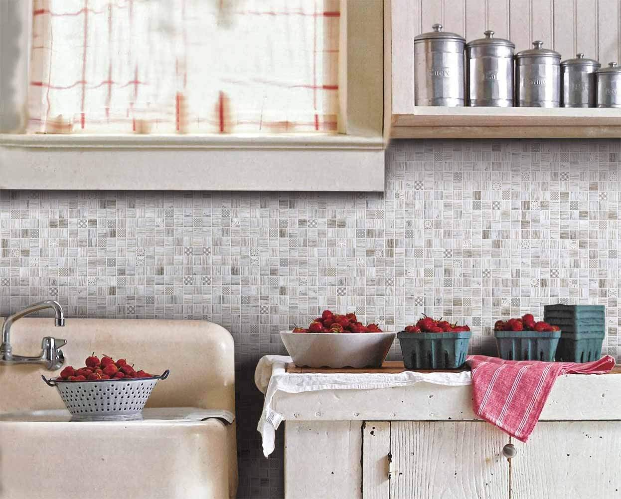 Wooden Mosaic Tile Mix from Italian Tile and Stone Dublin