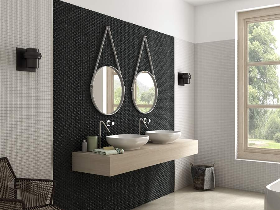 Small Light Grey  Hexagon Mosaic Tiles