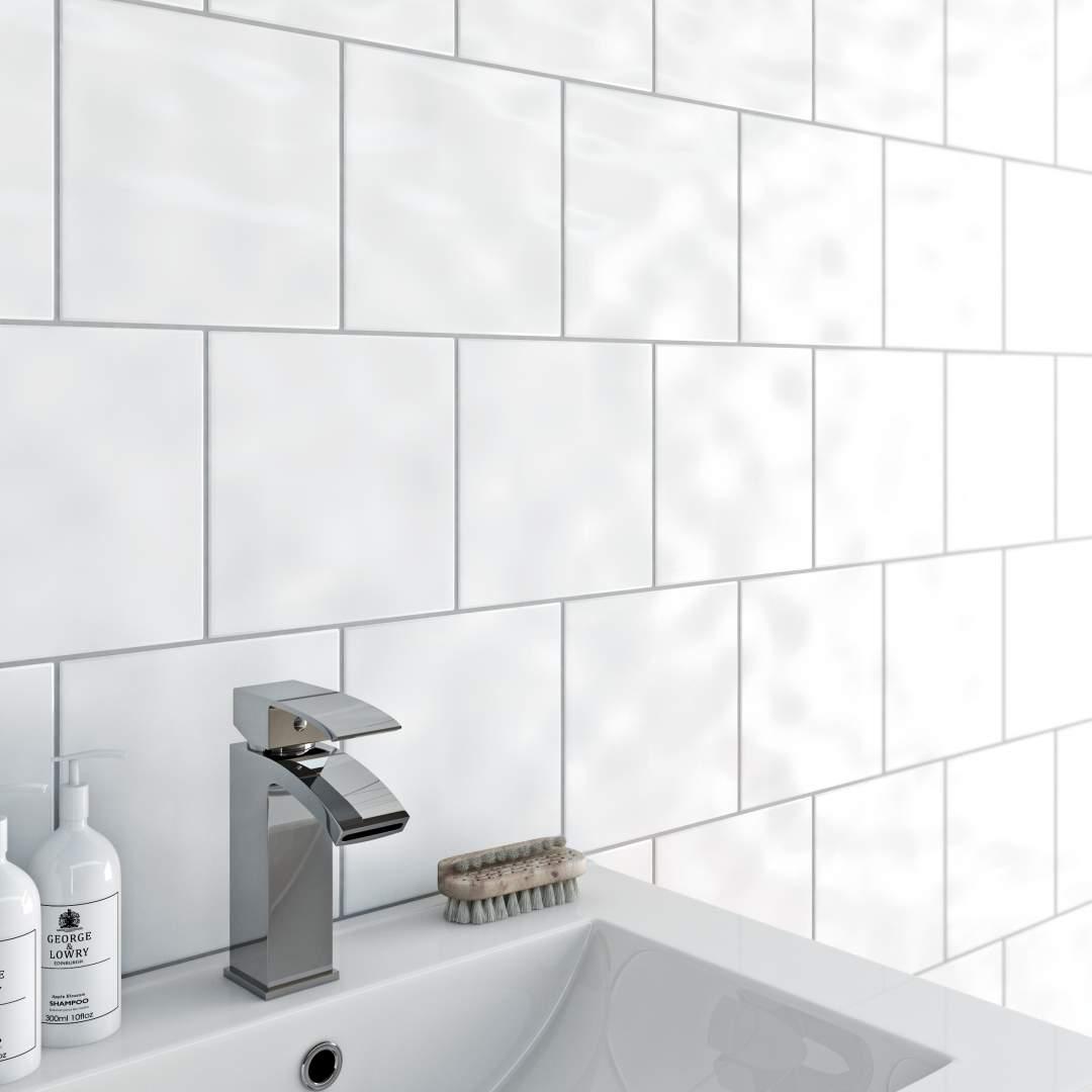 Bumpy White Wall Tiles 20x20 Ireland
