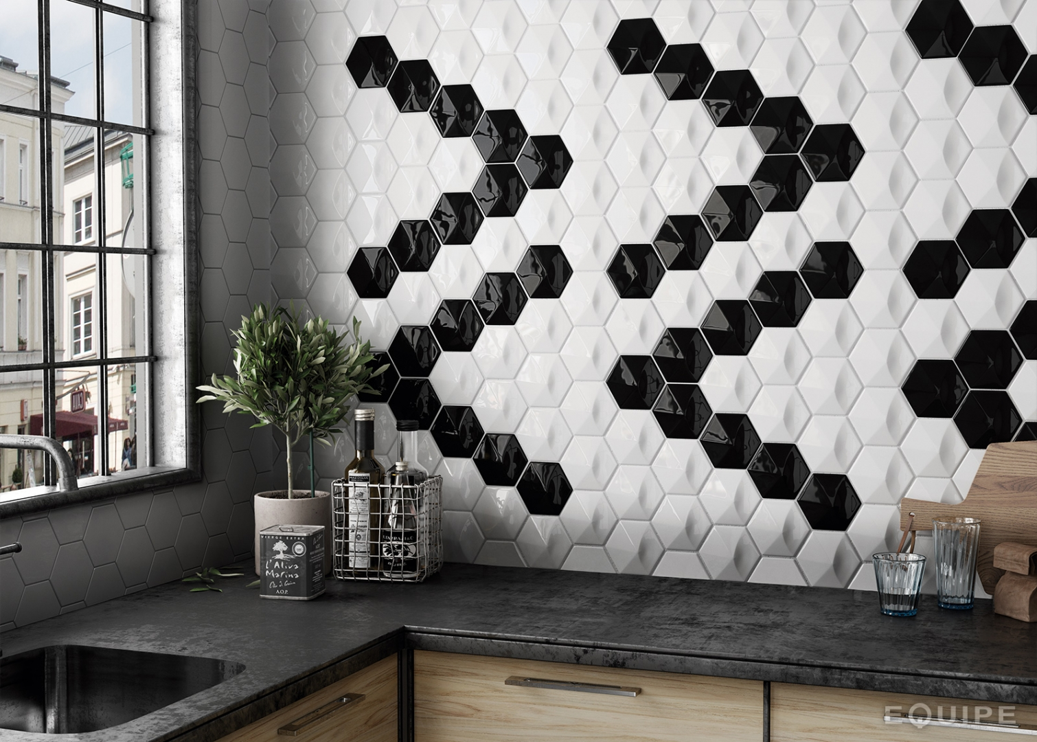 Designer Wall Tile Umbrella Matt White