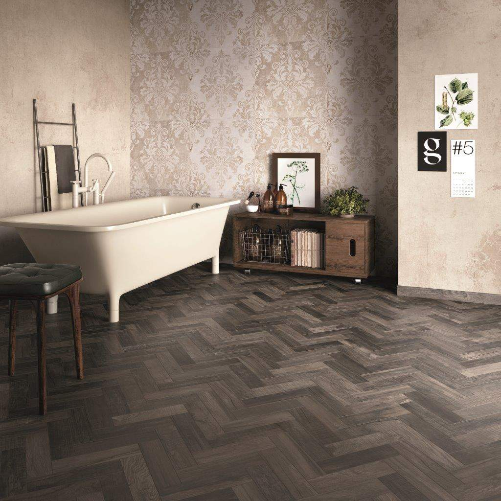 French Parquet Effect Wooden Tiles