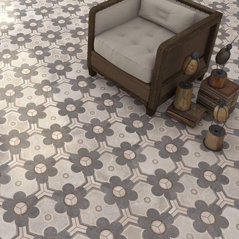 Vintage Hexagon Tiles at Italian Tile and Stone Dublin