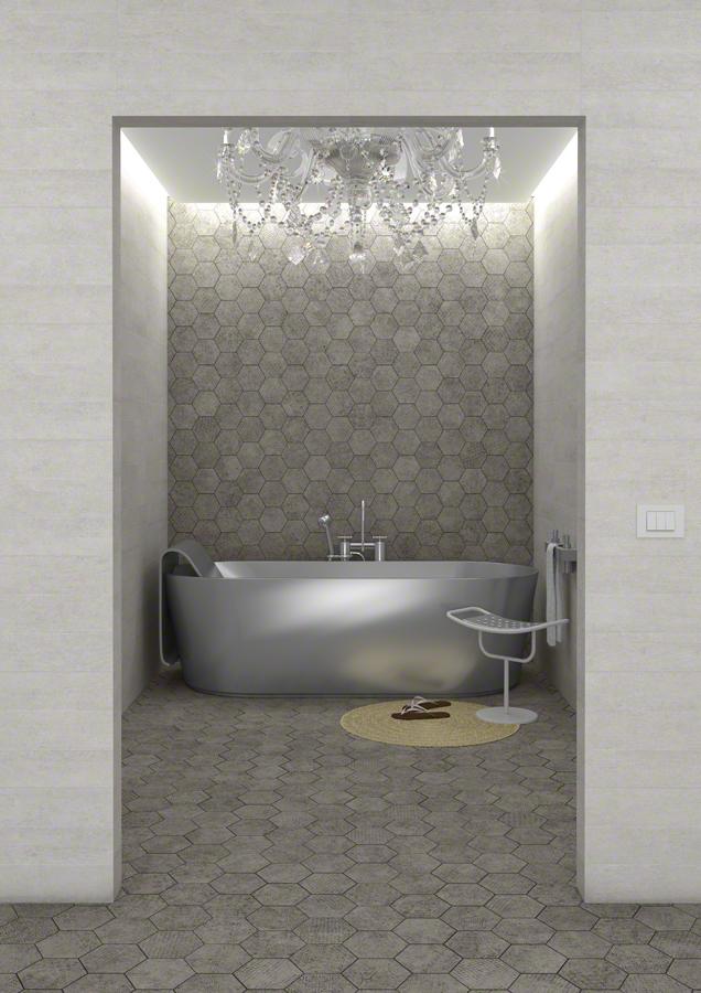 Cement Grey Hexagonal Tiles from Italian Tile and Stone Dublin