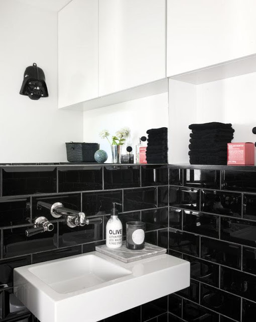 Black Subway Tiles Dublin. Metro Black Glossy Tiles from Italian Tile and Stone