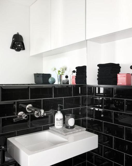 Black Subway Tiles Dublin Metro Black Glossy Tiles From