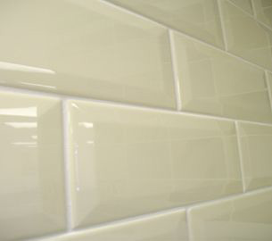 Cream Subway Tiles Dublin. Metro Cream Glossy Tiles from Italian Tile and Stone