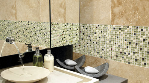 Classical Honed and Filled Travertine Tiles from Italian Tile and Stone Dublin