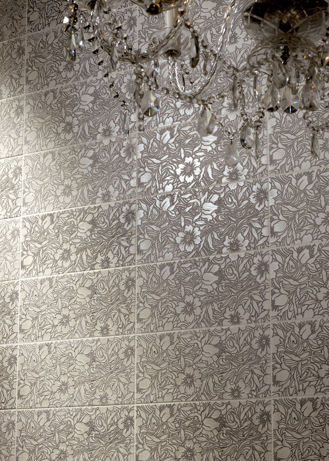 Bling! Metallic Tiles with Inset With Real Crystals from Tiles.ie Dublin