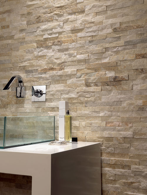 Brick stone cladding tiles the best brick stone cladding for Bathroom wall cladding ideas