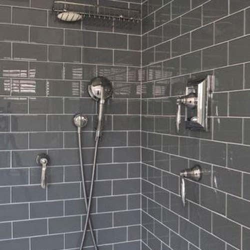 Wonderful Ideas About Grey Bathroom Tiles On Pinterest  Classic Grey Bathrooms