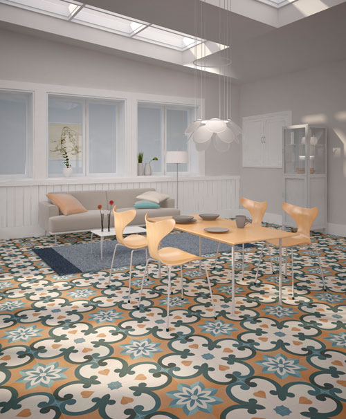 Special Offer Colourful Vintage Tiles. Multicoloured Floor ...