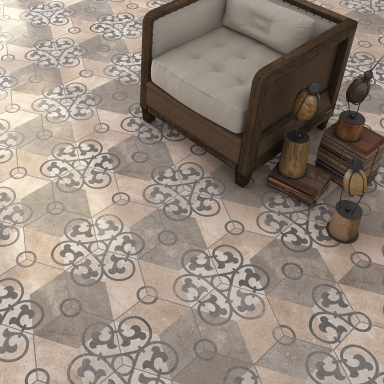 Vintage hexagon tiles - Bodenfliesen retro ...