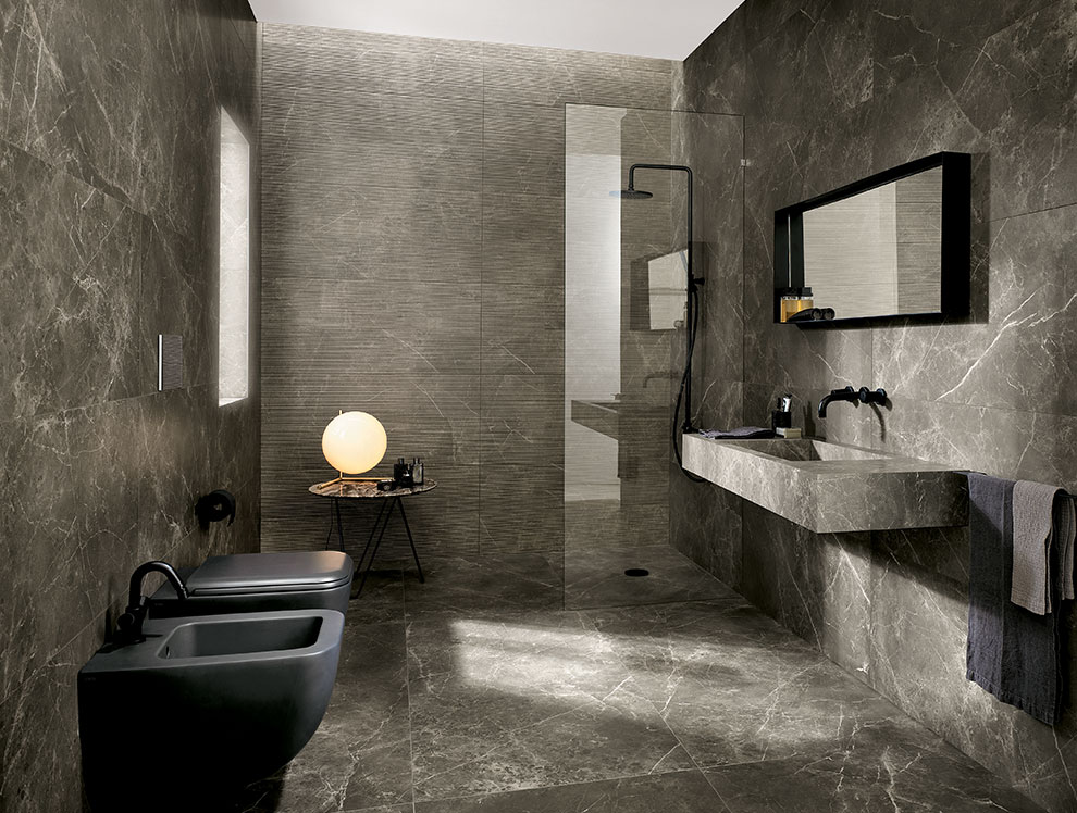 ... Brown Marble Bathroom ...
