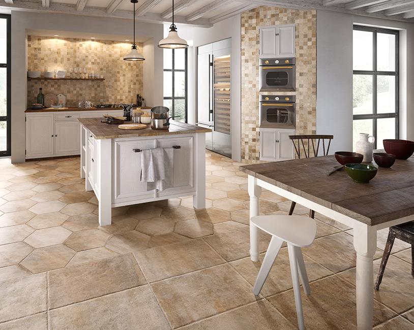 Kitchen floor tiles porcelain