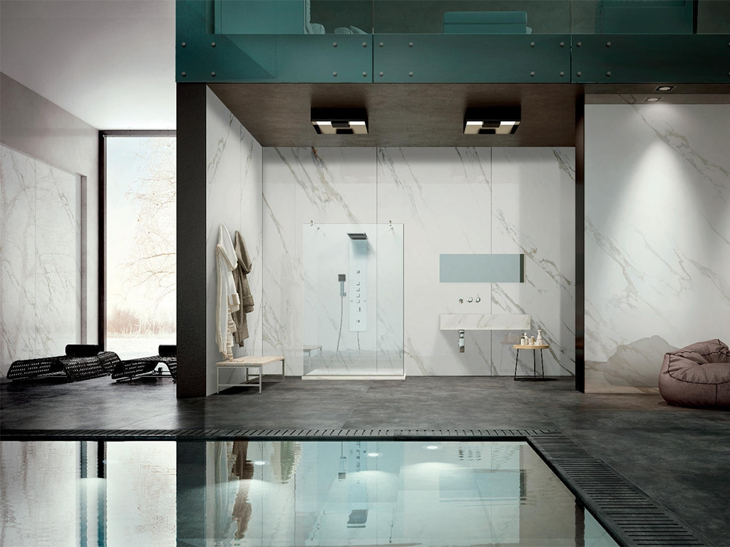 Large Format White Marble Tiles