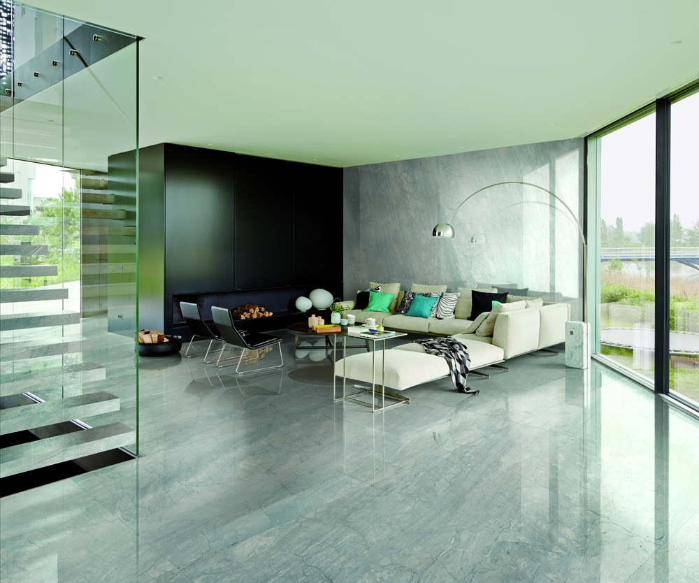 Large Format Grey Marble Tiles